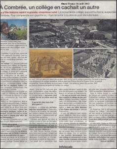 1 Ouest France du 16 août 2012