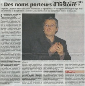 24. Courrier Ouest 2 sept 2015
