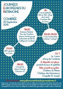 Affiche Journées européennes du patrimoine à Combrée
